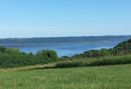 Mississippi River View Acreage above the Fishing Village Genoa, WI!