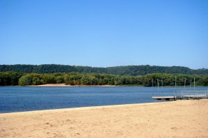 Beach at Wyalusing Park