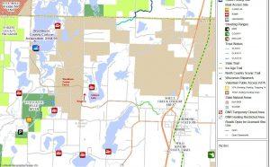 Public Land Map by Gilmore Lake