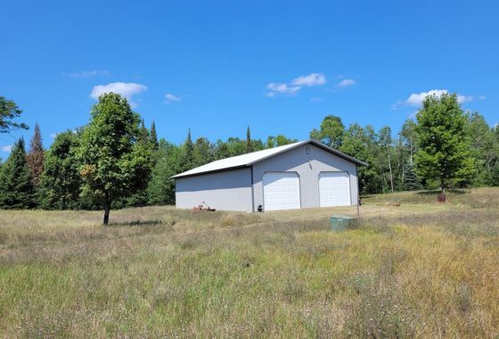 Crivitz Area, WI 8.75 Acres, Large Storage Shed, Well and Privy by the Menominee River!